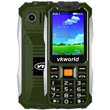 Vkworld V3S 2.4 inch Quad Band Unlocked Phone SPRD6531 Camera Bluetooth FM Dual LED Flashlight MP3 21 Keys Waterproof Cellphone