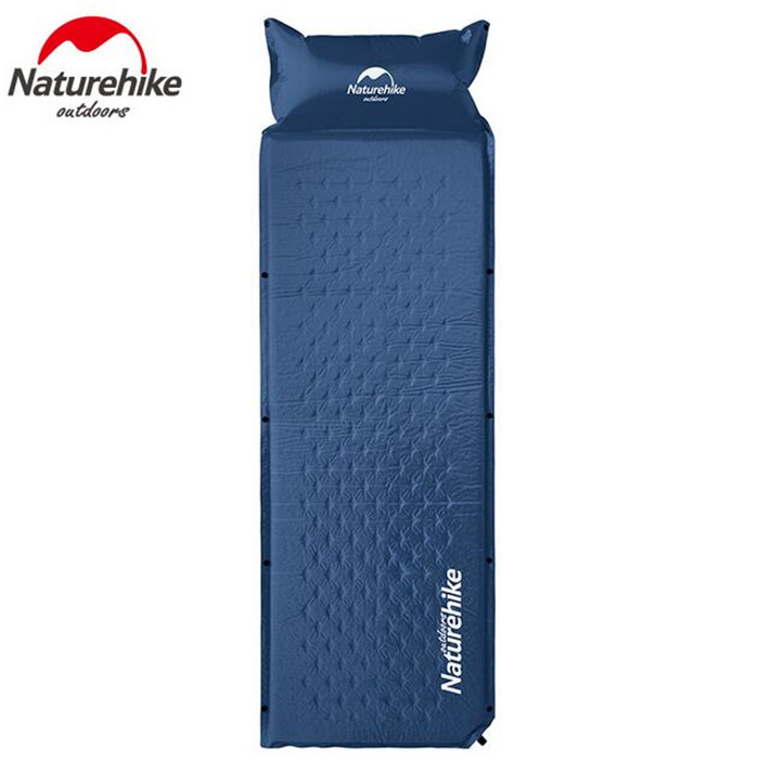 Naturehike Outdoor Lightweight Camping Automatic Mat Self-Inflatable Sleeping Mat Self-Air Sleeping Pad Air Mattress With Pillow<br>