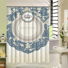 Pastoral Pattern 3D Printing Shower Curtain Modern Bathroom Accessory Polyester Waterproof Bath Curtain Set with Hooks