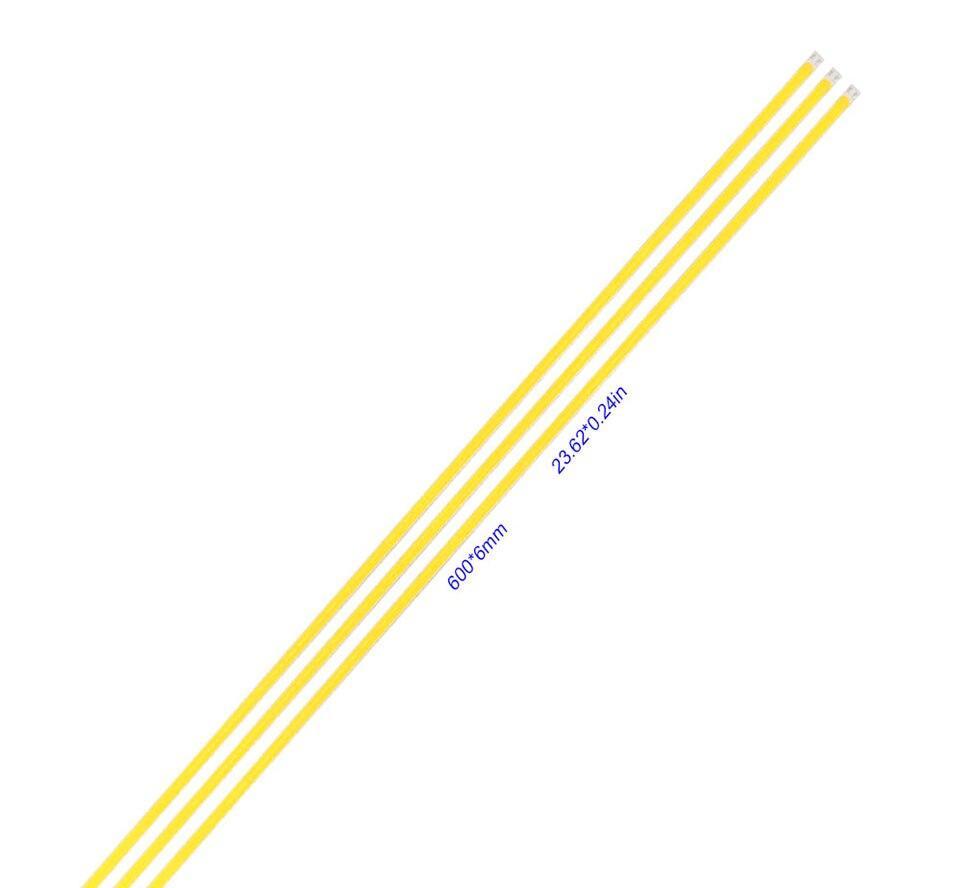 600x6mm LED Light Strip 60cm 12V 20W 3000K 6500K White Color COB LED Bar Lights for Car Lighting Bulb House Work Lamp DIY (1)