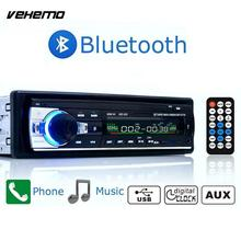 Vehemo In Dash Car Radio Stereo Player Bluetooth Phone AUX-IN MP3 AD/FM/USB/Remote Control 12V Car Audio(China)