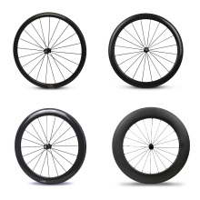 Buy YuanAn carbon road bike Clincher wheels 38mm 50mm 60mm 88mm U-shape rims Powerway R23 Hubs 700c road bicycle wheelsets for $423.99 in AliExpress store