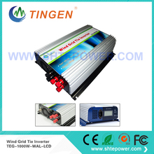 1000W wind grid connected inverter, grid tie inverter wind turbine 3phase ac 22-60v input (24v 48v)