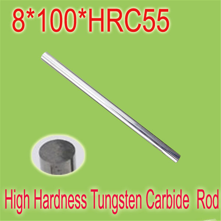 2pcs 8mm * 100mm HRC55  Cylindrical Tungsten Carbide Rod Grindering Raw Material Free Shipping<br><br>Aliexpress
