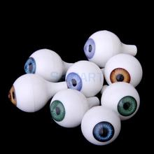 8 PCs Round Acrylic Doll Eyes Eyeballs Halloween Props 22mm
