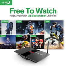 Hot IPTV Arabic French Tv Box HD Europe Sport News IPTV Channels Series Films VOD 1G/8G Load WIFI Smart Android TV Box