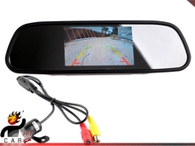 5 Inch Rearview Anti-Glare Mirror LCD Car Monitor with wireless Reverse Camera(China)