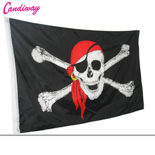 Huge 3x5 FT Skull Crossbones Jolly Roger Pirate Flags With Grommets Decoration bandeira,skull bones pirate flag NN023(China)
