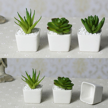 Top price Free shipping Mini indoor ceramic pots plant white ceramic handmade crafts home christmas wedding decoration