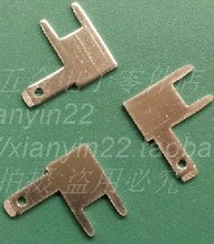 500pcs/ lot  90 degree bend foot 2.8mm solder terminals PCB board circuit board terminals lugs welded plate copper inserts