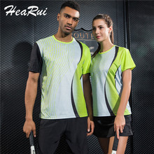 New Sportswear Quick Dry Breathable Tennis Shirt Women/Men Table Tennis Clothes Team Game Running Gym Tennis Wear(China)