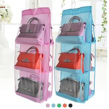 1pc Fashion 6 Pockets Hanging Storage Bag Purse Handbag Tote Bag Storage  Organizer Closet Rack Hangers Multilayer Suspension 3
