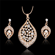 H:HYDE Statement Necklace Jewelry Sets African Fashion Women Wedding Pendant Earring Gorgeous Vintage Costume Jewellery Set