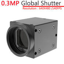 High Speed USB 0.3MP Monochrome Industrial Machine Vision CCD Digital Camera + SDK Global Shutter External Trigger,OpenCV(China)