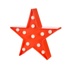 3D Star Shape Party Props LED Light Wedding Decoration Table Desk Ornaments Indoor Kids Room Bedroom Home Decor Creative Gifts