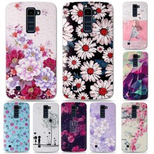 Luxury 3D Relief Printing Cover for LG K10 Soft TPU Back Covers Case For LG K10 LTE K420N K430 K430ds Phone Bag Cases Silicon