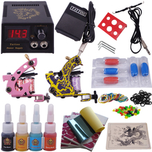 beginner tattoo starter kits 2 guns complete tattoo set make up permanent machine
