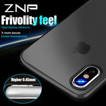 ZNP 0.3mm Ultra Thin Matte Transparent Phone Cases For iPhone 8 7 6 Plus Cover Case For iphone X Case 8 7 6 6S Phone Cases Capa(China)