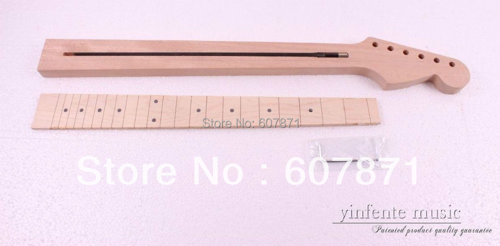 1 pcs Unfinished electric guitar neck High quality Mahogany maple  fingerboard<br>