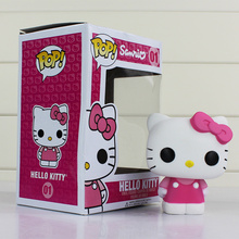 Funko POP Hello Kitty Anime Hot Movie Vinyl PVC Decorative Collection Figure Model Toy With 8.5cm Delicate Box For Kid's Gifts