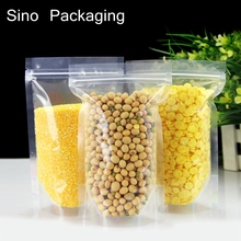 Ziplock Stand Up spice powder packaging pouchs Choosed the clear bag Free shipping(China)