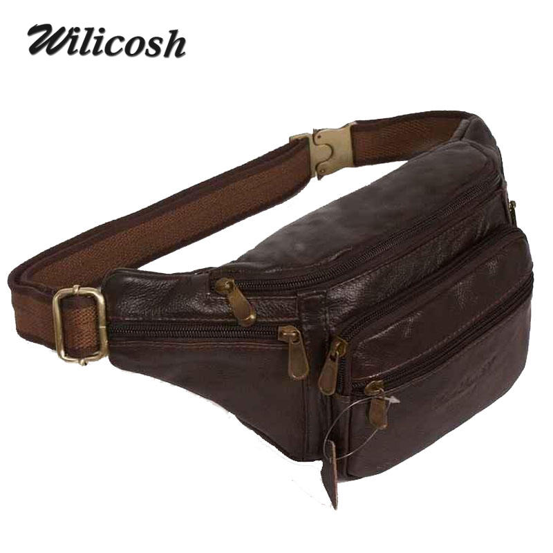 2015 new style!genuine leather mens multifunction travel bags funny chest pack men waist pack hiqh quality men waist bag DB4010<br><br>Aliexpress