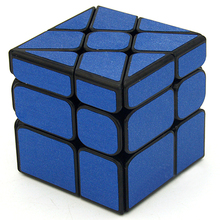 Fangge Wind Fire Wheel Magic Cube Mirror Blocks Magic Cube Puzzle Toys for Beginner(China)