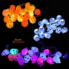 Keythemelife 3M Halloween Pumpkin Skull LED String Lights Halloween Decorations Supplies Home Party Decor 2B0