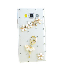 Fashion 3D flowers pearl rhinestone cell mobile phone Case cover For Samsung Galaxy A8 2016/C9 PRO/A5 2017/A3 2017/C7 C9 J3 Pro