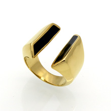Martick Simple Bijoux Party Rings Opening Drop Oil Rings Europe Brand Style Jewelry For Woman Rings R187
