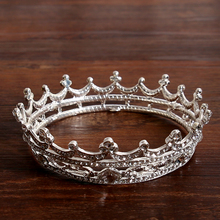 Elegant Silver European Royal Crowns For Women Fashion Trendy Crystal Queen Crown Hair Accessories Bijoux Wedding Crown