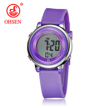 OHSEN Jelly Candy Watch Clock Woman Waterproof 50M Outdoor Digital Sports Watch Women Simple Fashion Watch Hand Wrist Hour Gift(China)