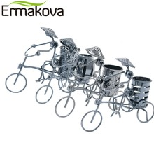 ERMAKOVA Metal Tricycle Model Retro Bike Model Statue Pencil Cup Antique Bicycle Pen Container Holder Home Office Decor Gift
