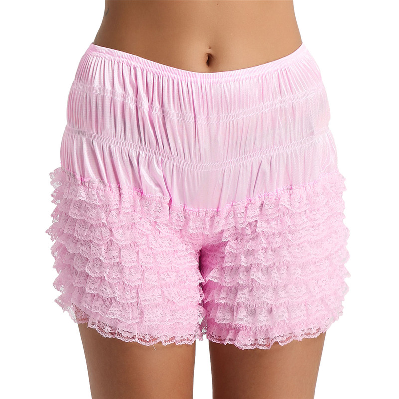 XXL freebily Lingerie Femme Culottes Cale/çon Cuir Noir Maillot Short de Bain Bas /À Lacets C/ôt/és Bikni Femme Boxer Briefs Court Pantalon Dansewear Taille Basse M