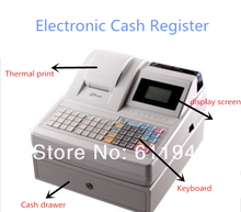 Electronic Cash Register With LCD Display ZQ-ECR1000AF Commercial Cash Register Applicable To Food Supermarket And Store(China)