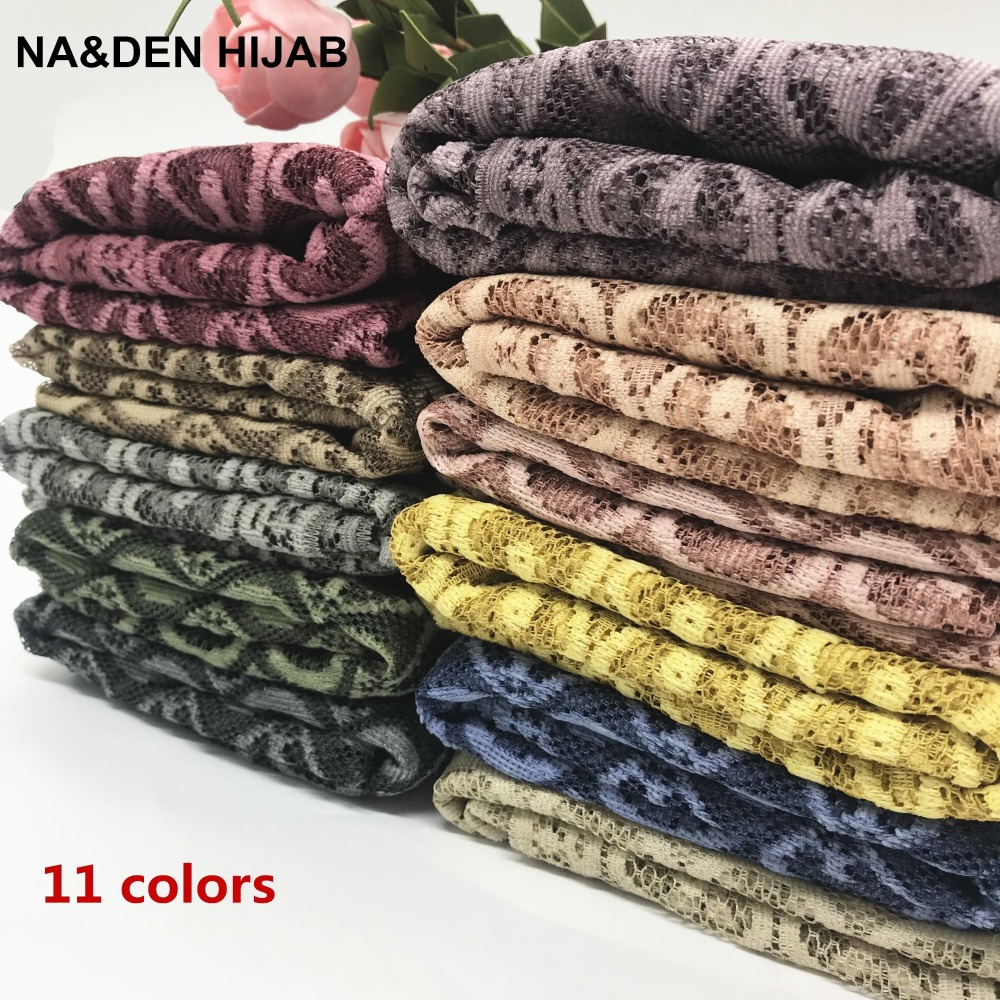 2018 Fashion Women Neck Scarf  Lace Bufandas Mujer Pashmina Shawls Design Charming Long Scarf High Quality 180*80cm Geometric