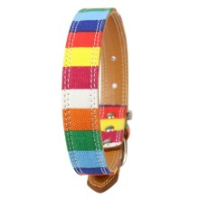 Pet Dog Collar Designer Collar Large Dog Leather Plain Collar for Big Small Dog Colorful Rainbow Dog Collar