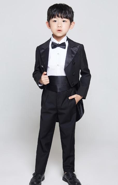 Prom Page Boy Christening Formal Flower Wedding Tuxedo White Floral 3 Piece Set