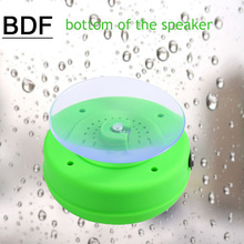 BDF Water Resistant BTS-06 mini portable Shower Bluetooth Speaker with Sucker Support Hands-free Calls Function for Mobile Phone(China)