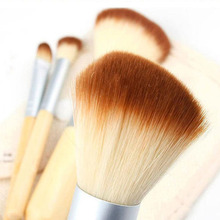 2017 New Arrival 4PCS Natural Bamboo Make Up Brushes Excellent Quality Comestic Makeup Brush Foundation Blending Brush Tool Set(China)