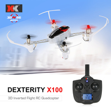 Freeshipping XK X100 DEXTERITY 2.4G 6CH 3D 6G Mode Indoor Drone RC Quadcopter Support for FUTABA S-FHSS Inverted Flight RTF(China)
