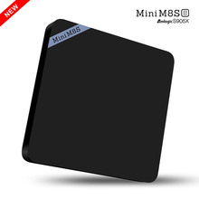 Android 6.0 TV Box Amlogic S905X Quad Core 2GB RAM Mini M8SII M8S II Mini PC Kodi Wifi Bluetooth 4K H.265 Google Media Player