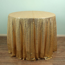 96'' Round Sparkly Gold Sequin TableCloths Christmas Birthday Wedding Table Decoration