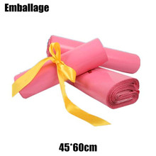 Wholesale 45*60cm Pink Poly Self-seal Mailbags Poly Mailers Envelope Courier Post Shipping Mailing Bags PP733