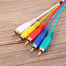 1.5m HDMI Cable to 5RCA 5-RCA Audio Video AV Component Cord Gold Plated HDMI to 5lotus line high-definition audio color line
