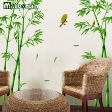 Maruoxuan Hot Style Popular Tv Setting Wall Room Sitting Room Sofa Decorate Wall Stickers Chinese Winds Bamboo Forest Depths