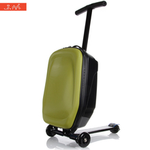 Buy J.M Scooter Trunk PC Kids Rolling Luggage High-tech Laptop Bag Lazy Person Suitcase Wheels Weekender Travel Baggage Valise for $145.60 in AliExpress store