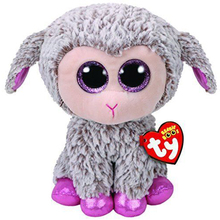 "Pyoopeo Ty Beanie Boos 6"" 15cm Dixie the LAMB / SHEEP Plush Regular Stuffed Animal Collectible Soft Big Eyes Plush Doll Toy(China)"