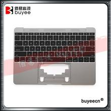 Original Used A1534 12'' Palm Rest 2016 Year For Macbook Air Retina Grey A1534 Palmrest Top Case Topcase US Keyboard Replacement