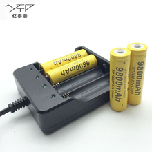 18650 battery 1pic/2pcs/4pcs 9800mAh battery Li-ion 3.7v 18650 rechargeable Battery for LED flashlight with 18650 charger